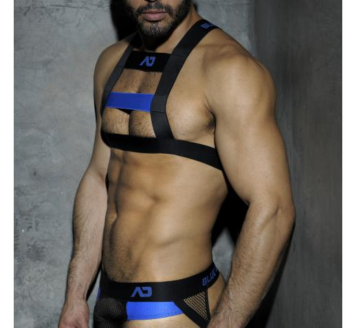 ADDICTED FETISH CODES RUBBER HARNESS - Blue