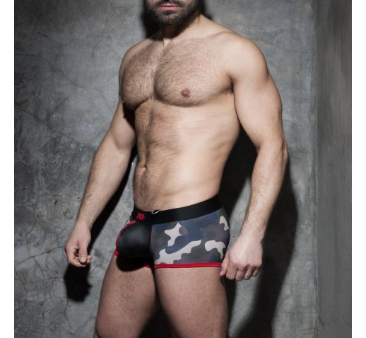 ADDICTED FETISH ZIPPER CAMO BOXER - Red