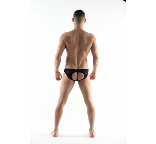 DMXGEAR LOVE BOY BLUE VELVET PATTERN BACKLESS BRIEF