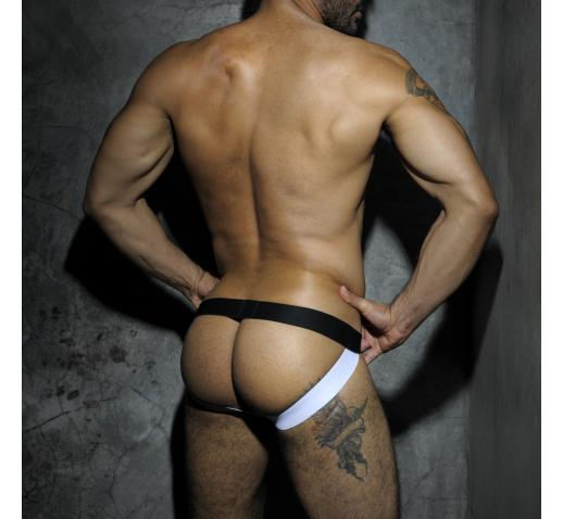 ADDICTED FETISH MESH JOCKSTRAP - White