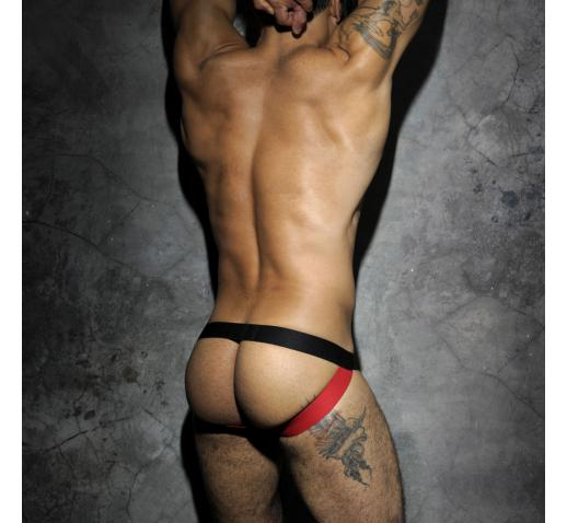 ADDICTED FETISH MESH JOCKSTRAP - Red