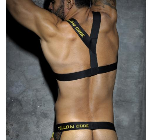 ADDICTED FETISH CODES RUBBER HARNESS - Yellow