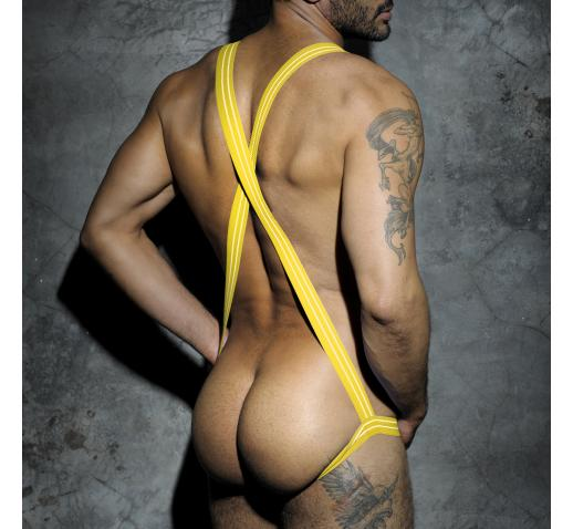 ADDICTED FETISH JOCK SINGLET - Yellow