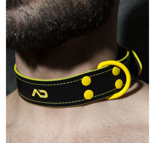 ADDICTED FETISH LEATHER COLLAR - Yellow