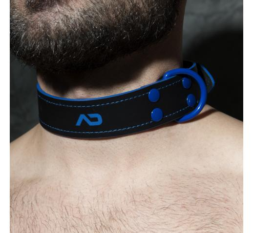 ADDICTED FETISH LEATHER COLLAR - Royal Blue