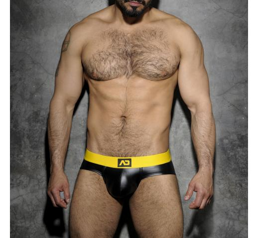 ADDICTED FETISH RUB BRIEF BACK OPEN - Yellow