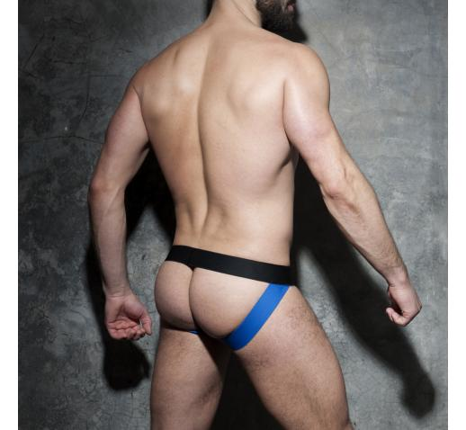 ADDICTED FETISH ZIPPER CAMO JOCK - Royal Blue