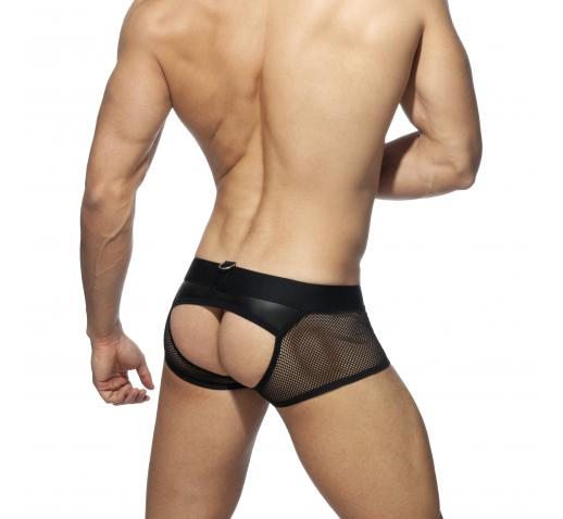 ADDICTED MESH MIXED BOTTOMLESS TRUNK - Black