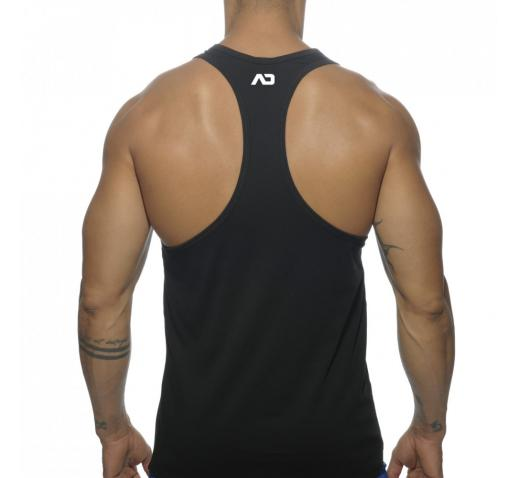 ADDICTED CONTRAST TANK TOP - Black