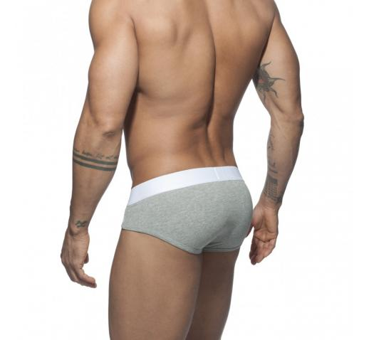 ADDICTED VELVET COMBI BRIEF - Heather Grey