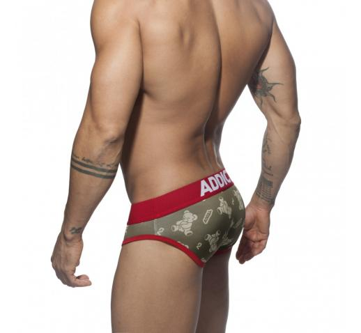 ADDICTED TEDDY BRIEF - Red