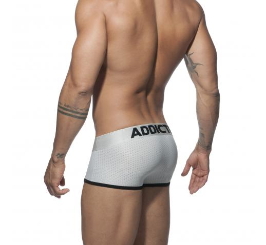 ADDICTED SILVER MESH BOXER - Silver