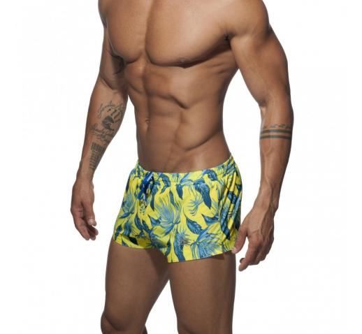ADDICTED PLANTS SWIM SHORTS - YELLOW