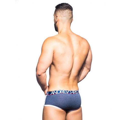 ANDREW CHRISTIAN SHOW-IT POCKET BOXER - Heather Blue