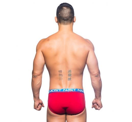 ANDREW CHRISTIAN ALMOST NAKED COTTON BRIEF - Red
