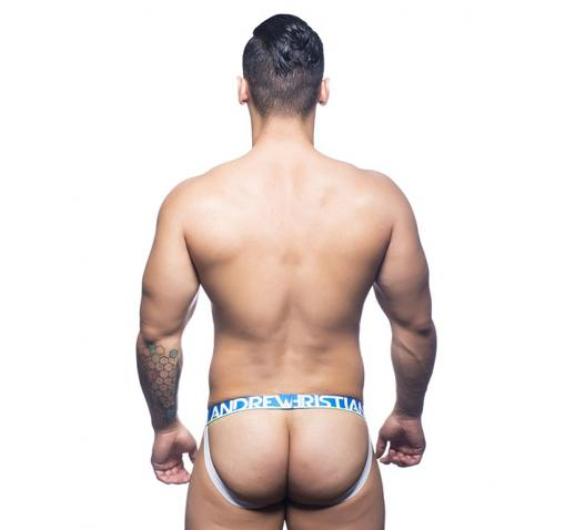 ANDREW CHRISTIAN ALMOST NAKED ELECTRIC JOCK - Electric Blue Stripe