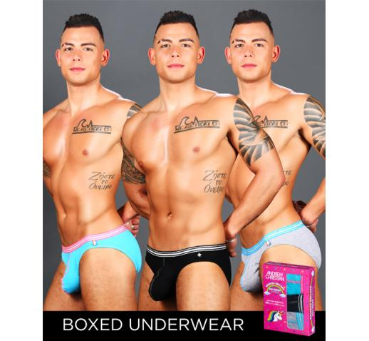 ANDREW CHRISTIAN ALMOST NAKED BOY BRIEF UNICORN 3-PACK
