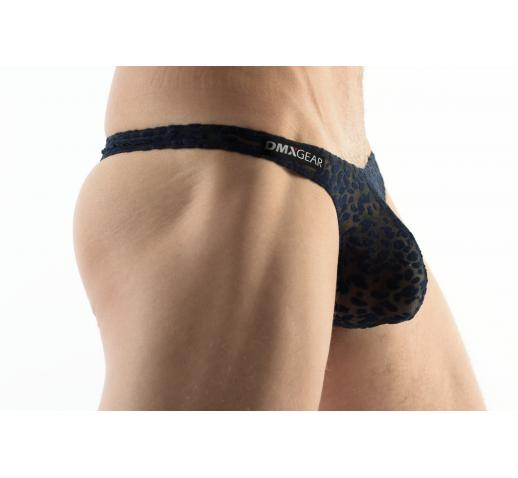 DMXGEAR LOVE BOY BLUE VELVET PATTERN MEN'S THONG
