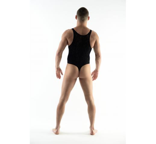 DMXGEAR LOVE BOY BLUE VELVET PATTERN BODYSUIT / SINGLET