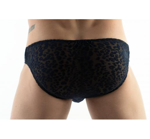 DMXGEAR LOVE BOY BLUE VELVET PATTERN BRIEF