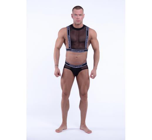 DMXGEAR LUXURY SWEET MESH BRIEF - BLACK