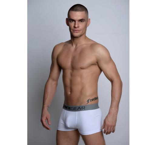 DMXGEAR LUXURY COTTON ESSENTIALS BOXER TRUNK - WHITE