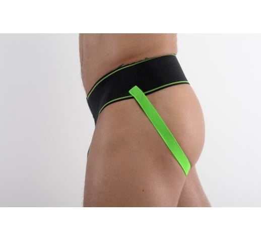 DMXGEAR GENTLEMAN LUXURY BLACK JOCKSTRAP - GREEN