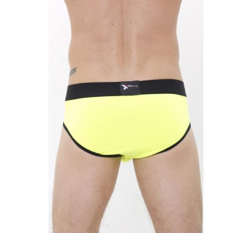 DMXGEAR LUXURY COTTON NEON BRIEF - YELLOW