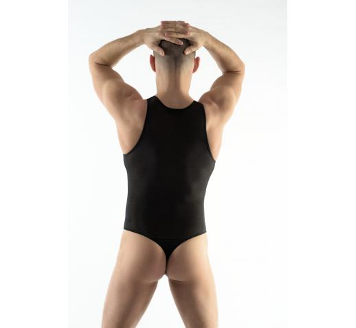 DMXGEAR LOVE BOY BLACK MESH BODYSUIT / SINGLET
