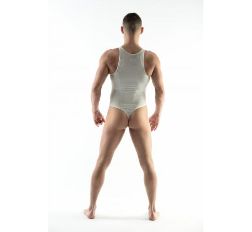 DMXGEAR LOVE BOY WHITE LACE BODYSUIT / SINGLET
