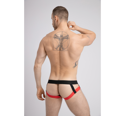 MASKULO MESH TWO LAYER POUCH JOCKSTRAP - RED