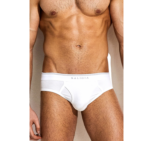 SALIGIA ORIGINAL RIBBED BRIEF - WHITE