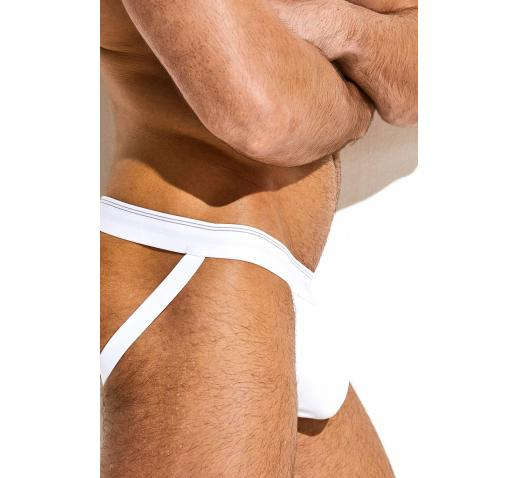 SALIGIA ORIGINAL RIBBED JOCKSTRAP - WHITE