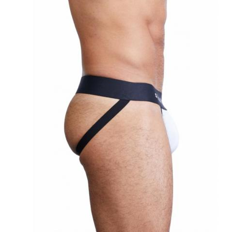 SKULL AND BONES CLASSIC JOCKSTRAP - White