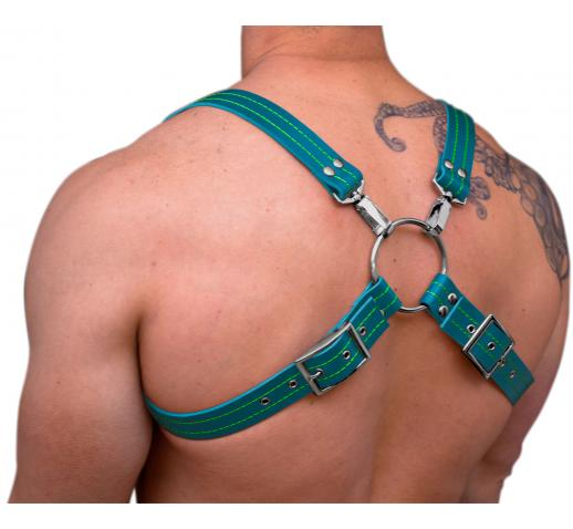 STRONG PUP 8-STYLE LEATHER THICK STITCHED THREAD HARNESS