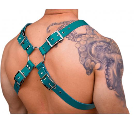 STRONG PUP X-STYLE WIDE LEATHER CHEST HARNESS