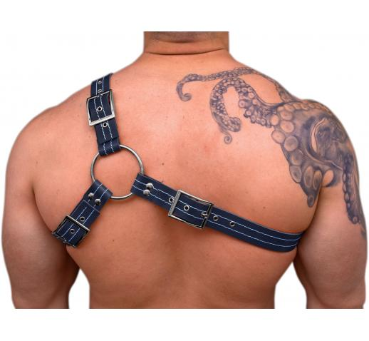 STRONG PUP Y-STYLE LEATHER THICK STITCHED THREAD CHEST HARNESS